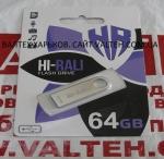 Металлическая флешка 64 Гб Hi-Rali HI-64GBSHSL