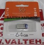 Металлическая флешка 64 гб T&G 108 Metal TG108SL-64SL Silver