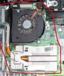 Радиатор, вентилятор HP Compaq 6735b