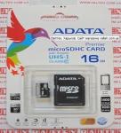 Карта памяти MicroSd 16gb class 10 ADATA