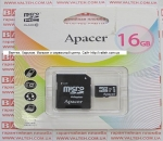 Карта памяти MicroSd 16gb class 10 Apacer