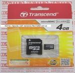 Карта памяти MicroSd 4gb class 4 Transcend
