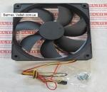 Корпусной вентилятор 120мм LogicPower Black