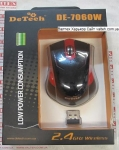 Беспроводная мышка DeTech DE-7060W Black Red