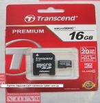 Карта памяти MicroSd 16gb class 10 Transcend