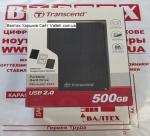 Внешний жесткий диск 500GB Transcend TS500GSJ25A2K Black