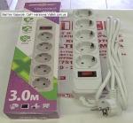 Сетевой фильтр 3 метра Maxxtro SPM5-G-10G