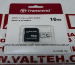 Карта памяти UHS-I microSD 300S 16gb class 10 Transcend