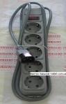 Сетевой фильтр DeTech DT-SP05-10-2M-C14 1.8 метра