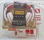 Наушники с микрофоном DeTech DT-780 White