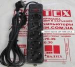 Сетевой фильтр 3 метра 5 розеток Maxxter SPM5-G-10B